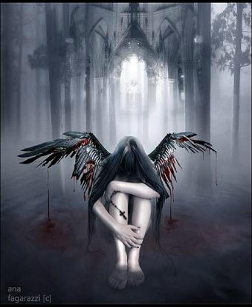 gothic angel wallpaper