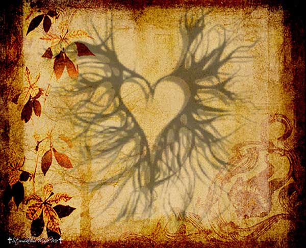 Gothic heart background