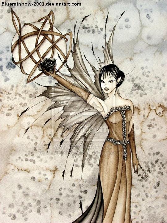 A light colored Gothic-fairy