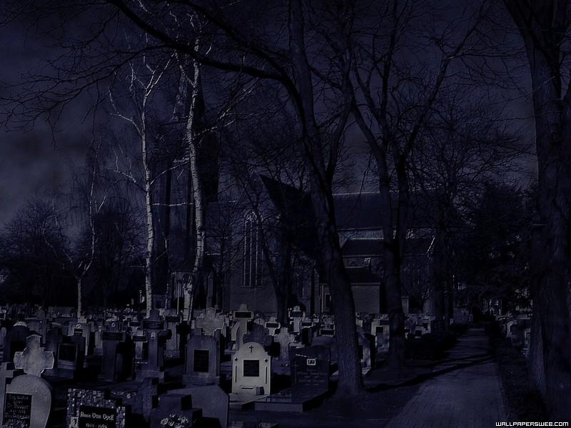 Gothic-background graveyard