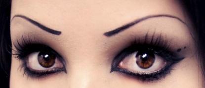 dark gothic eyes