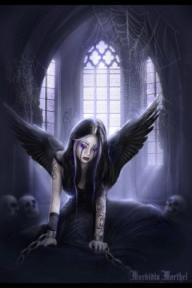 gothic angel art