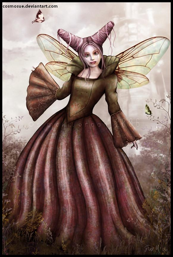Gothic-fairy in red